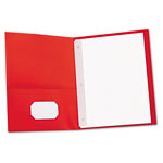 Universal Two-Pocket Portfolio, Red, Box of 25
