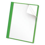 Universal Clear Front Report Cover, Green, Box of 25