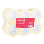 "Universal Box Sealing Tape, 2"" x 120 Yards, 3"" Core, Clear, Two per Box"