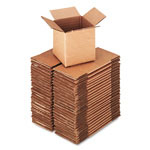 "Universal Shipping Cartons, 200 lb. Corrugated Kraft, 4"" x 4"" x 4"""