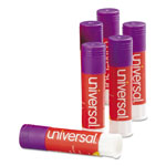 Universal Permanent Glue Stick, .28 oz, Stick, Purple, 12/Pack