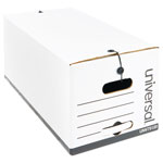 Universal Economy Storage Files, Letter, Tie Closure, 12 x 10 x 24, White, 12/Ctn