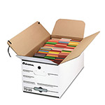 Universal Economy Storage File, Tie Close, Ltr, Fiberboard, 12 x 24 x 10, White, 4/Carton