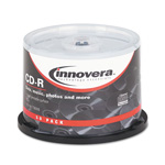 Universal CD-R Discs w/Printable Surface, 700MB/80min, 52x, Spindle, Matte White, 50/Pack