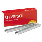 Universal Standard Chisel Point 210 Strip Count Staples, 5,000/Box, 5 Boxes per Pack