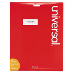 Universal Laser Printer Permanent Labels, 2 5/8 x 1 Label Size, White, 25 Sheets, 750/Pack