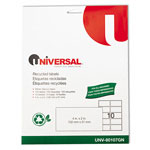 Universal Laser Printer Permanent Labels, Recycled, 2 x 4, White