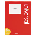 Universal Laser Printer Permanent Labels, 3 1/3 x 4 Label Size, White, 100 sheets, 600/Box