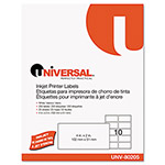 Universal Inkjet Printer Labels, 2 x 4, White, 250 per Pack