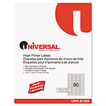 Universal Inkjet Printer Labels, 1/2 x 1-3/4, Clear, 80 Labels per Sheet, 2,000 per Pack