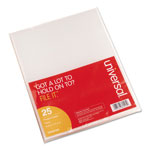 Universal Polypropylene Project Folders, Letter Size, Clear, 25/Pack