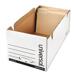 Universal Economy Storage Drawer File, Letter, 12 1/2x10 1/4x23 1/4 , White, 6/Ctn
