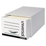 Universal Heavy-Duty Storage Box Drawer, Legal, 15 1/2 x 24 x 10 1/4, White, 6/Carton