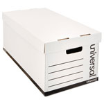 Universal Economy Storage Files, Letter, Lift Off Lid, 12 x 10 x 24, White, 12/Carton
