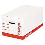 Universal Extra-Strength Storage Box, Letter/Legal Size, White, 4/Carton