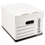 Universal Extra-Strength Storage Box, Letter/Legal Size, White, 12/Carton