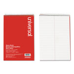 "Universal Wirebound 6x9 Gregg Ruled Steno Book, Two 3"" Wide Columns, 80 White Sheets/Book"