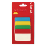 "Universal Self Stick Index Tab, 2"", Assorted Colors, 40/Pack"