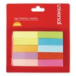 "Universal Self Stick Pop Up Page Tab, 1/2"" x 2"", Assorted Colors, 500/Pack"
