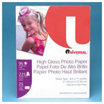 Universal Brochure, Presentation, Project Ink Jet Photo Paper, 8 1/2x11, 6 mil, 250 sheets/Pack