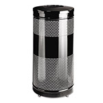 Rubbermaid Round Steel Indoor Trash Can, 25 Gallon, Black