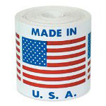 "Box Partners ""MADE IN U.S.A."" With Flag"