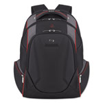 "Solo Active Laptop Backpack, 17.3"", 12 1/2 x 8 x 19 1/2, Black/Gray/Red"