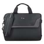 "Solo Laptop Slim Brief, 14"" x 2"" x 10"", Black"