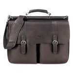 "Solo Leather Laptop Portfolio, 16-1/2""x4-3/4""x13"", Expresso"
