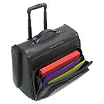 Solo D964-4 Dual Access Rolling Notebook Computer Case/Overnighter, Leather, Black