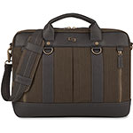 "Solo Bradford Slim Briefcase, Holds, 15.6"", Olive Green"