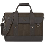 "Solo Hybrid Briefcase, 3"" x 16"" x 12"", Black/Gray"