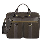 "Solo Bradford Briefcase with Zipper, 15.6"", 16 x 3 3/4 x 12, Espresso"