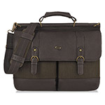 "Solo Bradford Briefcase with Buckle, 15.6"", 16 1/4 x 5 x 12, Espresso"