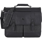 "Solo Bradford Briefcase, 15.6"", Black/Gray"