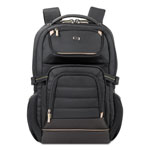 "Solo Pro Laptop Backpack, 17.3"", 12 1/2 x 7 1/2 x 18, Black"