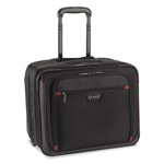 Solo Sterling 100 Rolling Overnighter Case, 16 x 14 x 9 1/2, Black, Red Accents