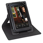 "Solo Universal Tablet Case, Fits 6"" to 8.3"", Black/Gray"