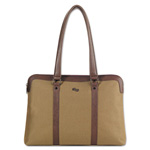 "Solo Executive Ladies Tote, 15.6"", 16 1/2 x 3 1/2 x 12, Khaki/Brown"