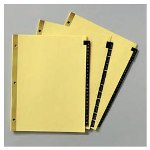 Avery Black Leather Tab Dividers, Gold Reinforced, Printed Jan Dec, 11 x 8 1/2, 12/Set