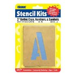 "U.S. Stamp & Sign Stencil Sets 2"", Caps And Numbers"