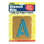 "U.S. Stamp & Sign Stencil Sets 3"", Caps And Numbers"