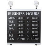 "U.S. Stamp & Sign Business Hours Sign with 176 3/4"" Characters, 14""x13"""