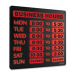 "U.S. Stamp & Sign Lighted Business Hour Sign, 13""x13 1/4""x1-1/4"", Black"