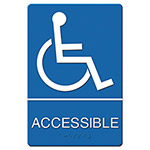 "Acco ""Accessible"" ADA Sign, 6w x 9h"""