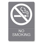 "Acco ""No Smoking"" ADA Sign, 6w x 9h"""