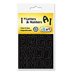 "U.S. Stamp & Sign Self-Adhesive Caps & Numbers, Hobo, Black, 1"", 4 per Pack"