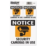 U.S. Stamp & Sign Self-Stick Security Camera Combo Decal, Security Cameras in Use, 2-3 x 3/1-6 x 6