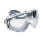 Uvex Safety StealthAntifog, Antiscratch, Antistatic Goggles, Clear Lens, Gray Frame