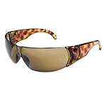 Uvex Safety Women's Eyewear, Tortoise Shell Frame, Espresso Anti-Scratch Lens, One Size
